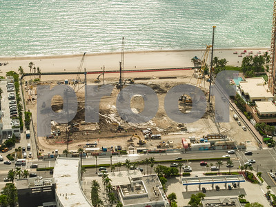The Estates at Acqualina Sunny Isles construction site development