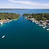 Aerial View of Round Lake and Lake Charlevoix, Michigan