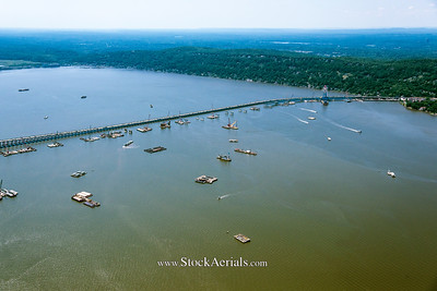 Aerial Photography of The Tappan Zee Bridge in NY