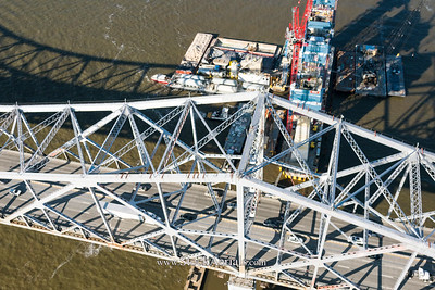 Aerial Photograph Tappan Zee Bridge 20160128 A 0525