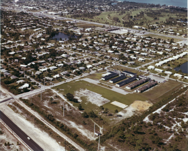 Aerial Photo Naples, lake park area