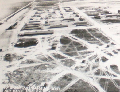 Aerial View Naples Air Base WWII