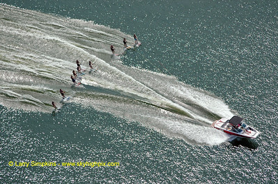 Lake Anna water ski record (maximum number of skiers behind one boat) August 2010, image #6