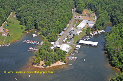 Lake Anna Marina and beach