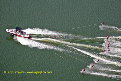 Lake Anna water ski record (maximum number of skiers behind one boat) August 2010