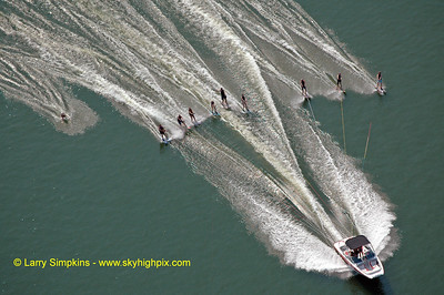 Lake Anna water ski record (maximum number of skiers behind one boat) August 2010, image #4