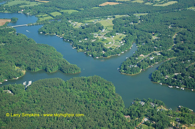 Lake Anna, looking North West. (Route 719 Days Bridge Road in top left)