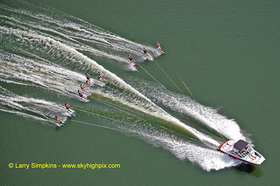 Lake Anna water ski record (maximum number of skiers behind one boat) August 2010, image #5