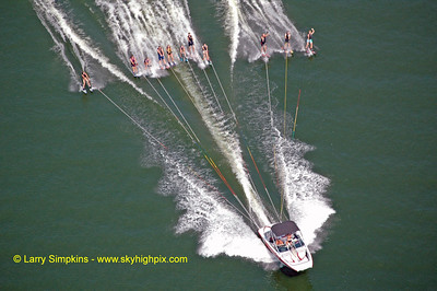 Lake Anna water ski record (maximum number of skiers behind one boat) August 2010, image #2