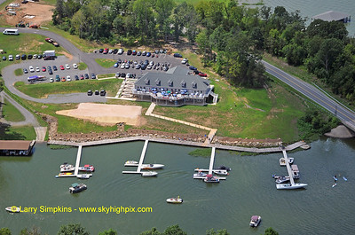 "The ""Boardwalk"" complex on Lake Anna on a busy Sunday afternoon."