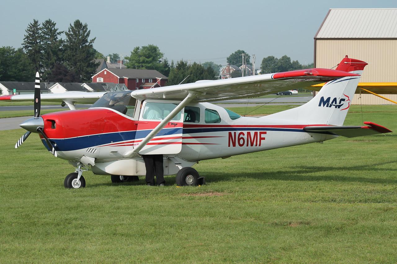 Aircraft utilized; Cessna 206 [N6MF]