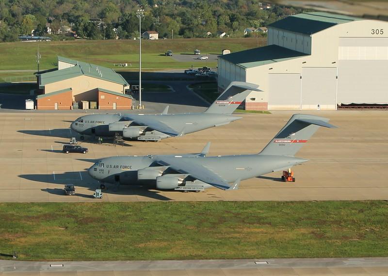 C-17s of the 167th AW WVA ANG