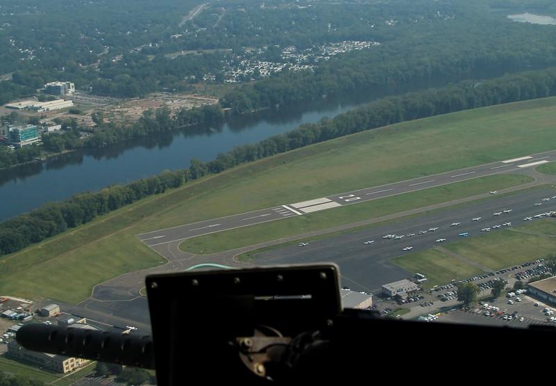 Runway 20 at KHFD
