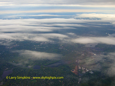 Early morning low altitude cloud patterns