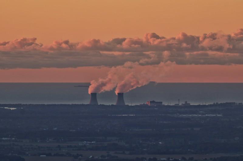 Fermi II nuclear plant on Lake Erie Newport, Michigan