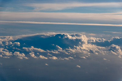 Cumulus Clouds from Airplane