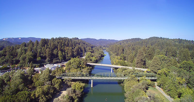 Guerneville, CA -  Above the Russian River.  Guerneville is a small community north of San Francisco, Ca.
