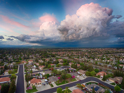 A Storm passing over Clovis.