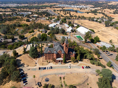 """The Preston Castle, in Lone California.  Built in the 1880's as the """"School of Industry"""".  Now abandoned, and is opened to reserved tours.  The castle is located near Lodi, Ca."""