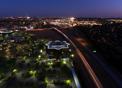 Rabobank Building and HWY 41 night