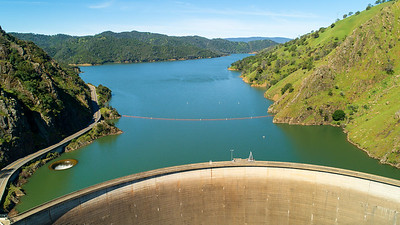 The Monticello Dam, The Glory Hole, and Lake Berryessa.  April 2019