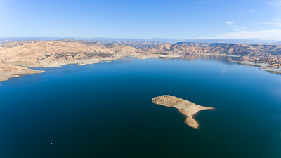 An Island in the middle of Millerton Lake., Friant, CA.