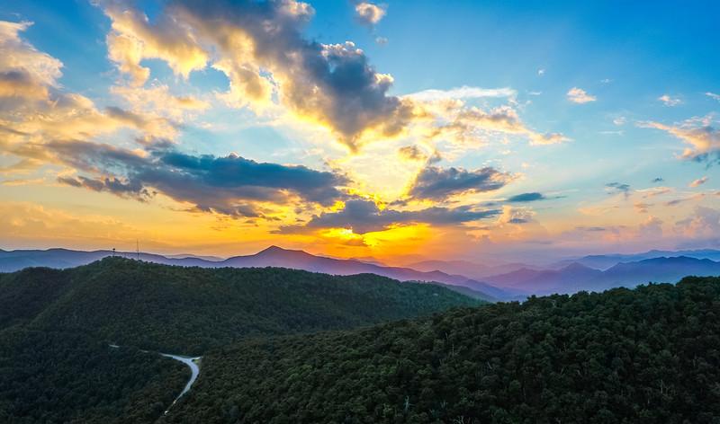 Sunset Over Mount Pisgah National Forest