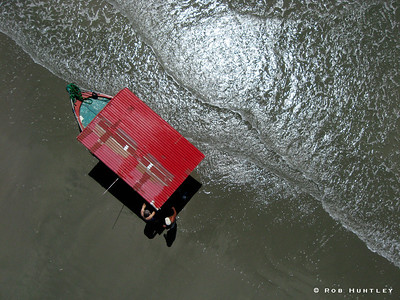 Pablo's Red Boat from Overhead