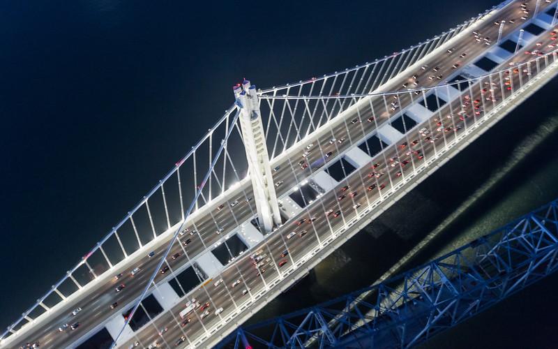 Above the New Bay Bridge