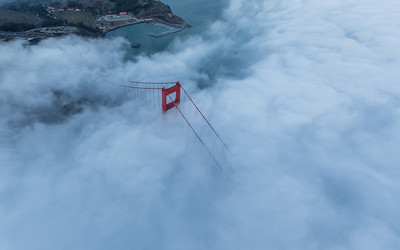 Flying over Golden Gate 2