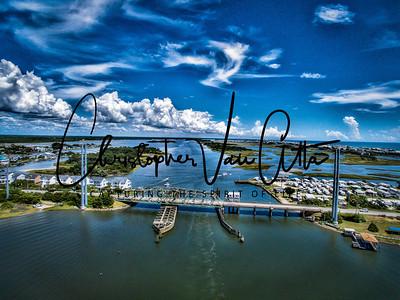 Topsail Island Swing Bridge Aerial Photo