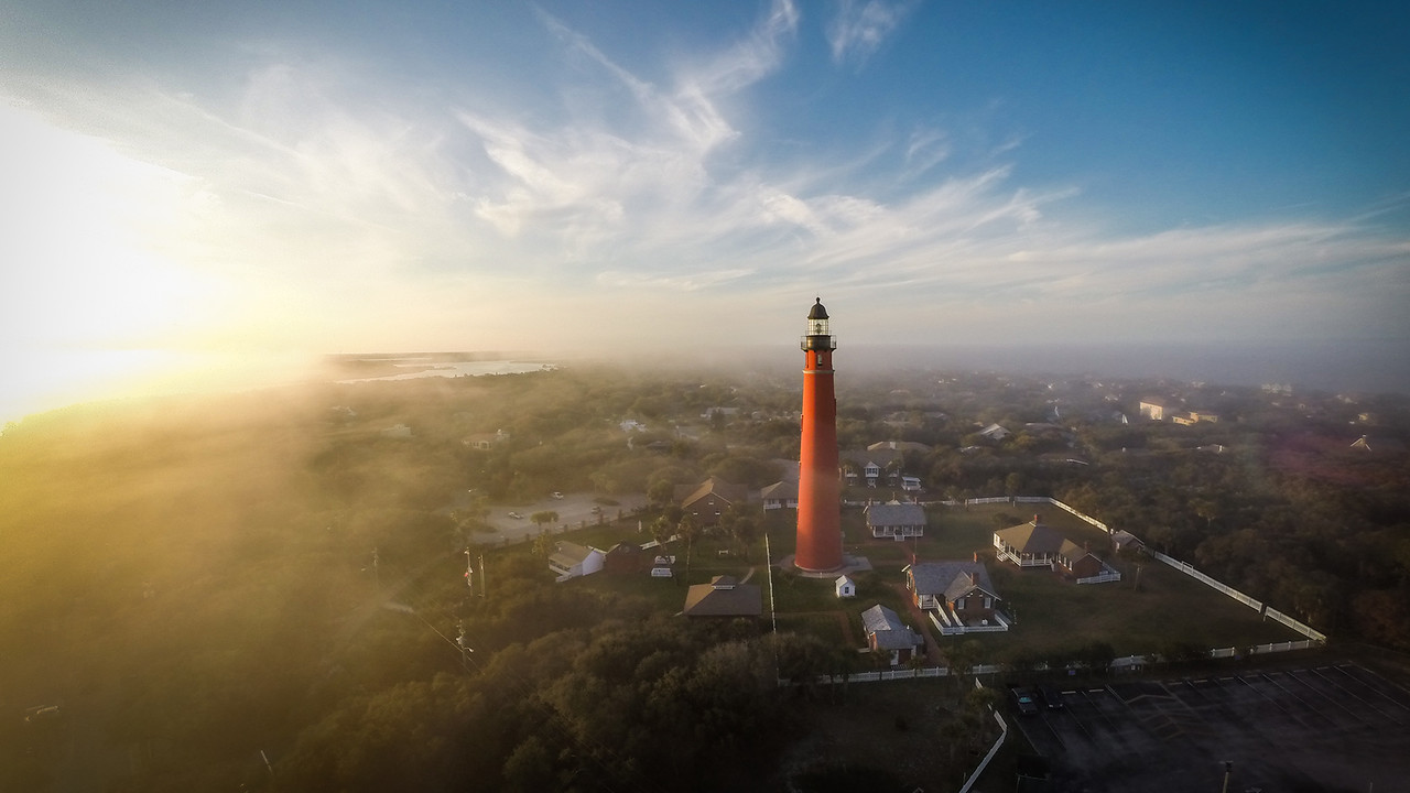 Ponce Inlet Lighthouse at Sunset