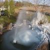 Frozen Fountain at Roselawn Memorial