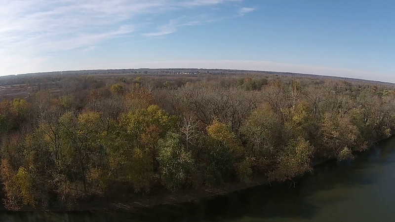Wabash River from West Bank to East Bank over Fairbanks Park