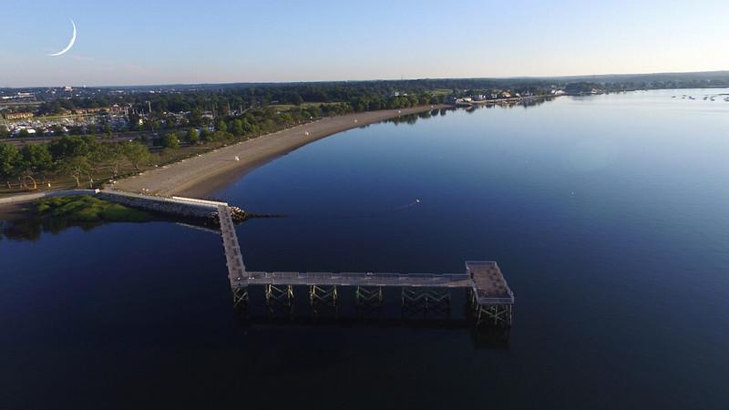 Norwalk,CT. Calf Pasture Beach  12 min Aerial Views