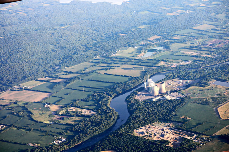 Nuclear Power Plant on the River