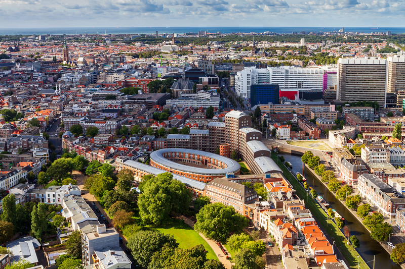 Aerial view of  The Hague.