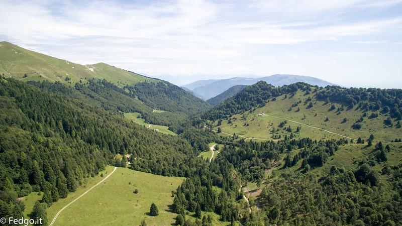 Valle delle Mure Montegrappa aerea