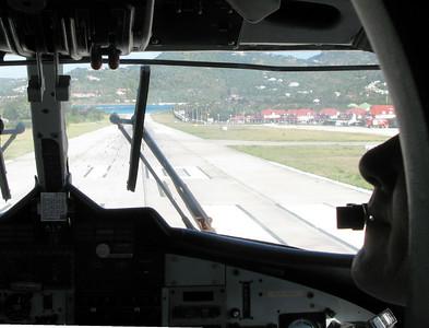 landing at St Barths