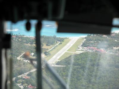the landing strip at St Barths