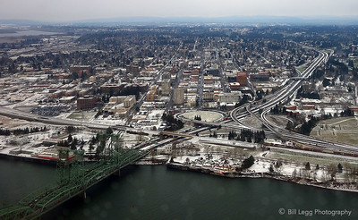 View of Vancouver, WA from Above
