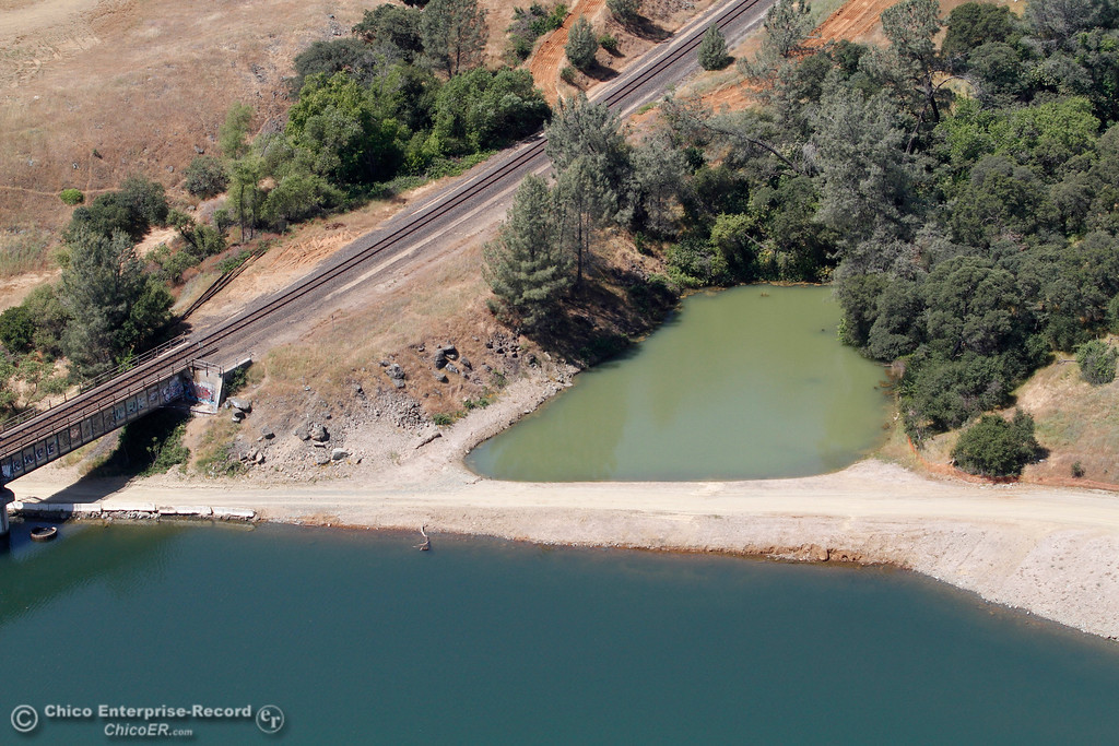 . An aerial view of the Oroville Dam and spillway from the Butte County Sheriff\'s Office helicopter Friday, May 17, 2018, in Oroville, California. (Dan Reidel -- Enterprise-Record)