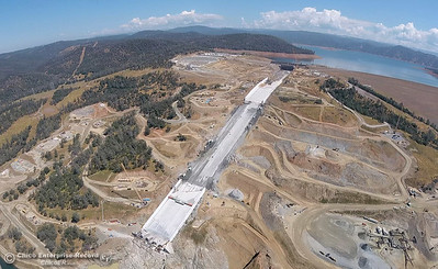 Aerial view of the Oroville Dam and spillway May 2018