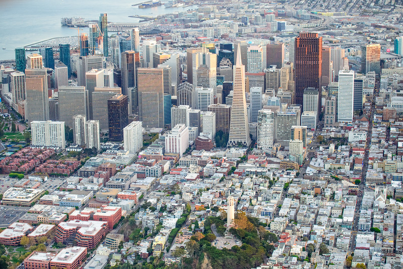 Downtown San Francisco From The Air