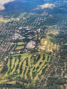 Aerial view Golf course near Killara Sydney New South Wales Australia.