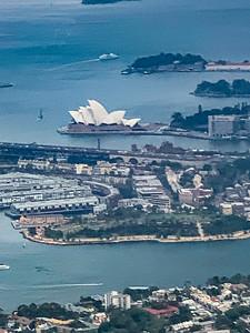 Aerial view Sydney opera house, Sydney Australia