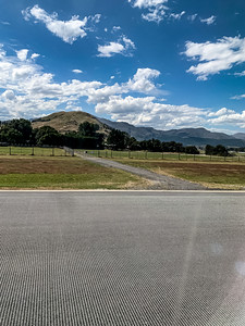 Southern Alps, Ka tiritiri o te Moana surrounding Queenstown New Zealand Airport. Editorial photo