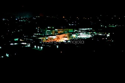 Aerial view UCH University College Hospital Ibadan Nigeria at night