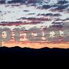 Sunrise over Wasatch Mountains on decent into Salt Lake City, Utah.  Looking East (duh sunrise..)