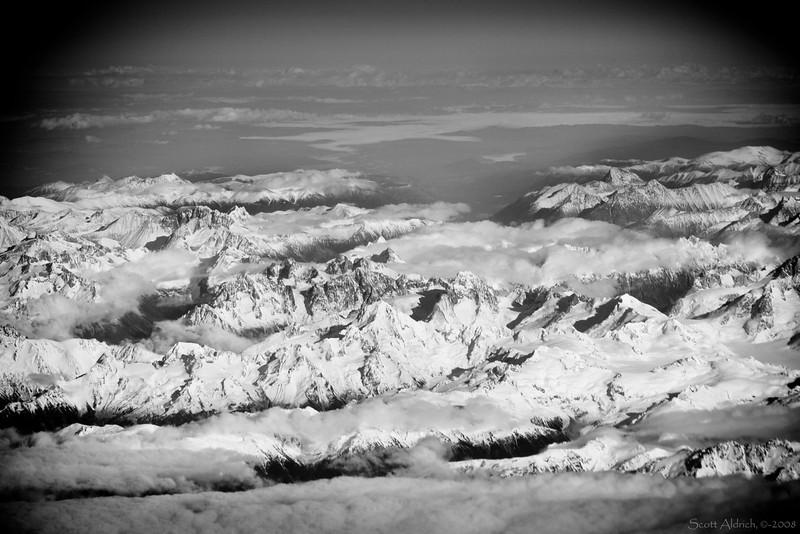Coastal range in British Columbia looking East.